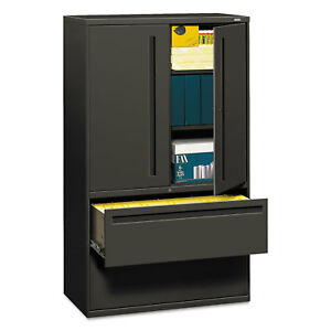 Hon 700 Series Lateral File W storage Cabinet 42w X 19 1 4d Charcoal 795lss
