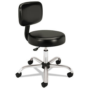 Hon Medical Exam Stool With Back 24 1 4 X 27 1 4 X 36 Black Mts11ea11