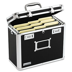 Vaultz Locking File Tote Storage Box Letter 13 3 4 X 7 1 4 X 12 1 4 Black