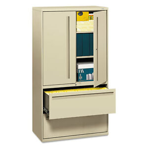 Hon 700 Series Lateral File W storage Cabinet 36w X 19 1 4d Putty 785lsl