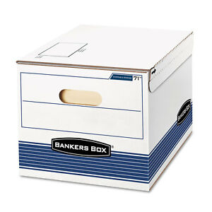 Bankers Box Stor file Storage Box Letter legal 12 X 15 X 10 White blue 12 carton