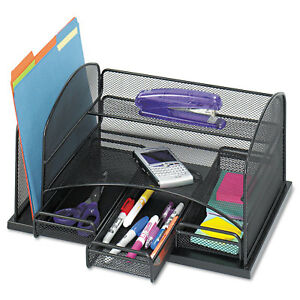 Safco Three Drawer Organizer Steel 16 X 11 1 2 X 8 1 4 Black 3252bl