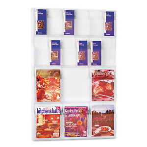 Safco Reveal Clear Literature Displays 18 Compartments 30w X 2d X 45h Clear