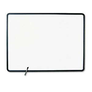 Quartet Contour Dry erase Board Melamine 48 X 36 White Surface Black Frame 7554