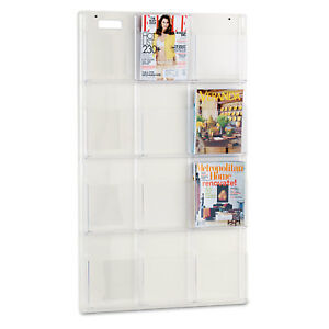 Safco Reveal Clear Literature Displays 12 Compartments 30w X 2d X 49h Clear