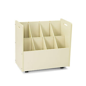 Safco Laminate Mobile Roll Files Eight Compartments 30 1 8 X 15 3 4 X 29 1 4