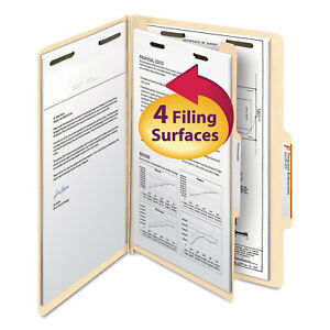 Smead Manila Classification Folders With 2 5 Right Tab Legal Four section 10 box