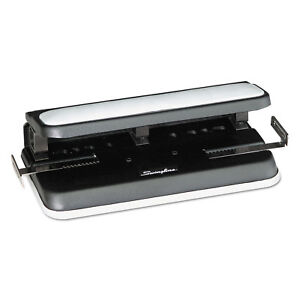Swingline 32 sheet Easy Touch Two to seven hole Punch 9 32 Holes Black gray