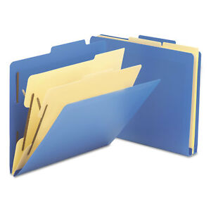 Smead 2 1 2 Expansion Heavy duty Poly Classification Folders Letter Blue 10 box