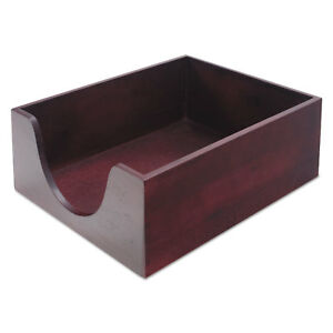 Carver Hardwood Letter Stackable Desk Tray Mahogany 08213