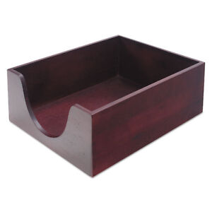 Carver Hardwood Legal Stackable Desk Tray Mahogany 08223