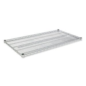 Alera Industrial Wire Shelving Extra Wire Shelves 48w X 24d Silver 2 Shelves