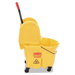 Rubbermaid Commercial Wavebrake 35 Quart Bucket wringer Combinations Yellow