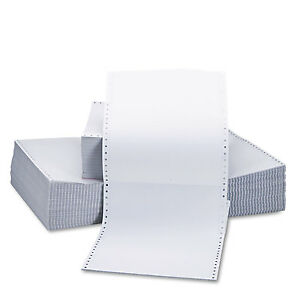 Universal Two part Carbonless Paper 15lb 9 1 2 X 11 Perforated White 1650 Sheets