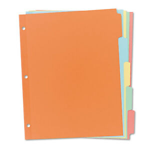 Avery Write on Plain tab Dividers 5 tab Letter 36 Sets 11508