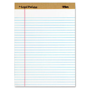 Tops The Legal Pad Ruled Perforated Pads Legal wide 8 1 2 X 11 3 4 White Dozen