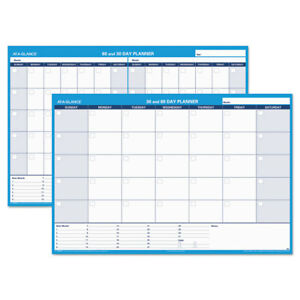 At a glance 30 60 day Undated Horizontal Erasable Wall Planner 48 X 32 White