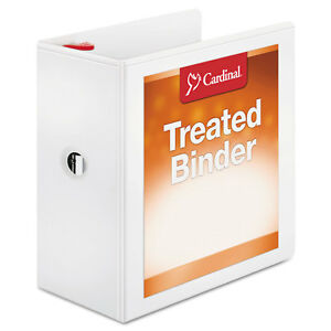 Cardinal Treated Binder Clearvue Locking Slant d Ring Binder 5 Cap 11 X 8 1 2
