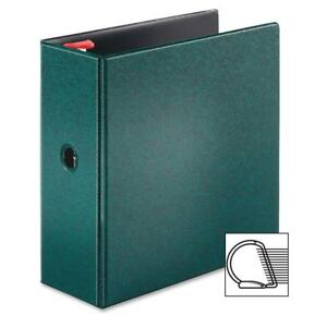 Tops Locking D ring Binder 5 Cap 11 x8 1 2 Evergreen 18064