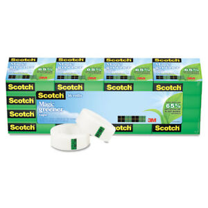 Scotch Magic Greener Tape 3 4 X 900 1 Core 16 pack 81216p