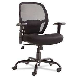 Alera Merix Series Mesh Big tall Mid back Swivel tilt Chair Black Mx4517
