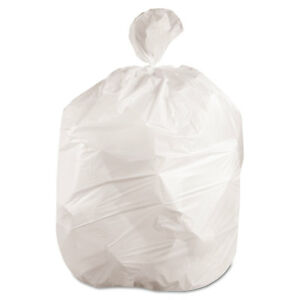Boardwalk Waste Can Liners 60gal 38x 58 6mil White 25 Bags roll 4 Rolls carton