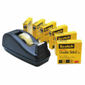 Scotch 665 Double sided Permanent Tape With C40 Dispenser 1 2 X 900 Clear 6
