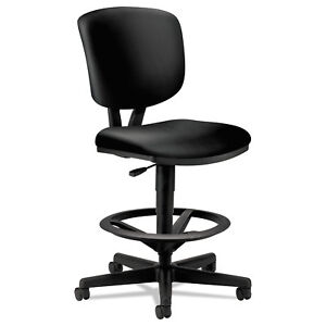 Hon Volt Series Adjustable Task Stool Black Leather 5705sb11t