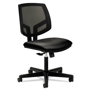 Hon Volt Series Mesh Back Leather Task Chair Black 5711sb11t