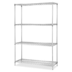 Lorell Industrial Wire Shelving starter Kit 4 Shelf post 48 x18 ce 84181