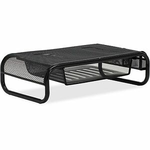 Lorell Monitor printer Stand 20 x12 x5 1 4 Black Mesh 84148