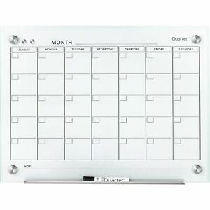 Quartet Infinity Magnetic Glass Calendar Board 24 X 18 Gc2418f