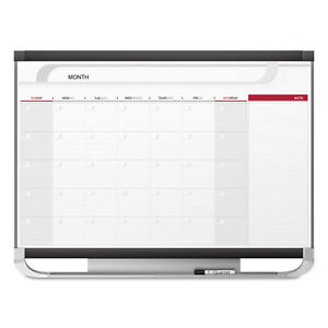 Quartet Prestige 2 Total Erase Monthly Calendar 36 X 24 Graphite Color Frame