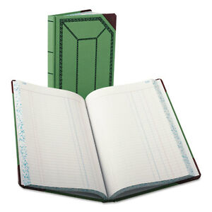 Boorum Pease Record account Book Journal Rule Green red 300 Pages 12 1 2 X 7 5