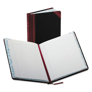 Boorum Pease Record account Book Record Rule Black red 300 Pages 9 5 8 X 7 5 8