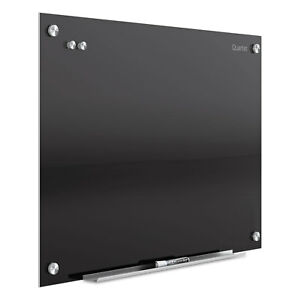 Quartet Infinity Magnetic Glass Marker Board 36 X 24 Black G3624b