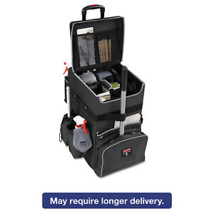 Rubbermaid Commercial Executive Quick Cart Large 14 1 4 X 16 1 2 X 25 Dark Gray