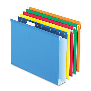 Pendaflex Reinforced 2 Extra Capacity Hanging Folders 1 5 Tab Letter Assorted