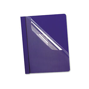 Oxford Premium Paper Clear Front Cover 3 Fasteners Letter Blue 25 box 58802