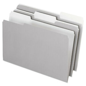 Pendaflex Interior File Folders 1 3 Cut Top Tab Legal Gray 100 box 435013gra