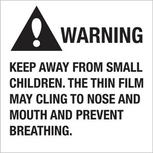Tape Logic Labels warning Keep Away From Small Children 2 X 2 Black white 50