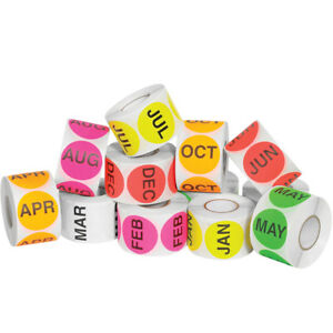 Tape Logic Easy Order Packs Months Of The Year 2 Circle Assorted Colors 12 case