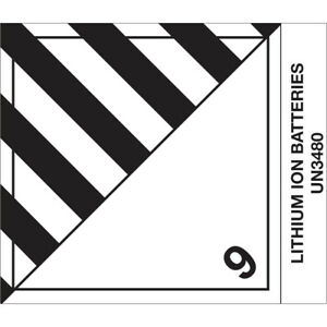 Tape Logic Labels lithium Ion Batteries 4 X 4 3 4 Black white 500 roll