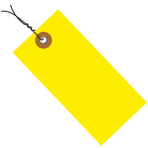 Tyvek Shipping Tags Pre wired 4 3 4 X 2 3 8 Yellow 100 case G14053b