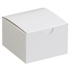 Box Partners Gift Boxes 3 X 3 X 2 White 100 case Gb332