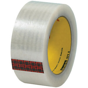 Scotch 3m 371 Carton Sealing Tape 1 9 Mil 2 X 110 Yds Clear 6 case T9023716pk