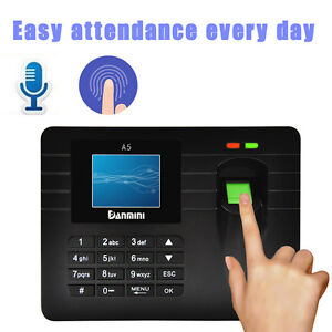 Advanced Tft Fingerprint Time Clock Attendance Employee Payroll Recorder B2