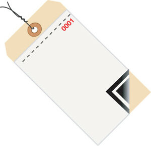 Box Partners Inventory Tags 3 Part Blank W carbon 8 Pre wired 0001 0499 6 1 4