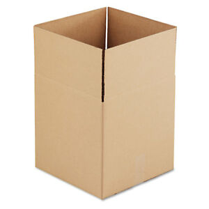 General Supply Brown Corrugated Cubed Fixed depth Shipping Boxes 14l X 14w X