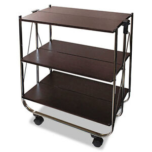 Vertiflex Click n fold Utility Cart 26 1 2w X 15 3 4d X 31 1 2h Chrome brown